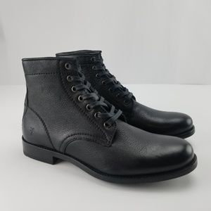 FRYE BOOTS TYLER LACE UP ANKLE LEATHER NEW
